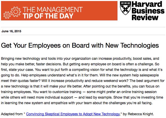 Today's management tip on the best argument for a new technology: http://t.co/GX1og9XAlM