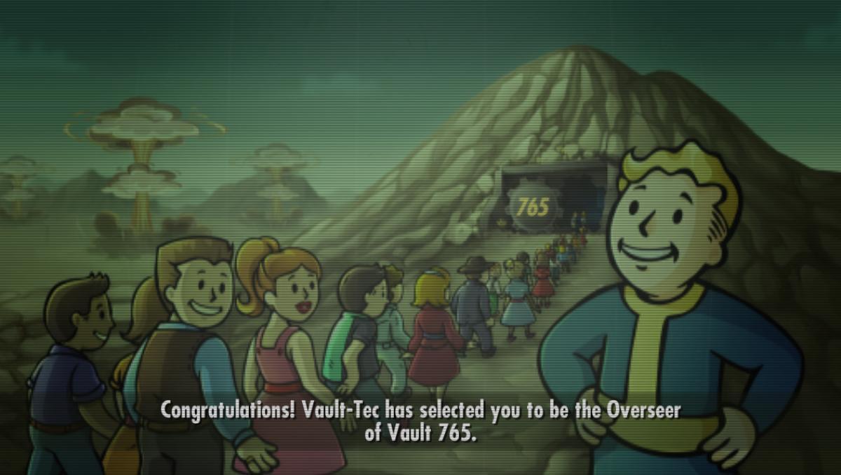 Fallout Shelter、あんまり深く考えずに「765プロー、ファイトー!」ぐらいのノリでvault765にしたんですが、食料不足で次々と765メンバーが死んでいくのをただ見ているしか出来なかったので、もうそういう番号はやめよう http://t.co/2cSLl0QIC1
