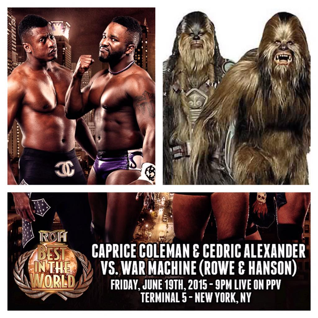 #BITW this Fri Night Live on PPV - C&C reunite to face The Wookies @ringofhonor @CedricAlexander http://t.co/CtSkT0REXf