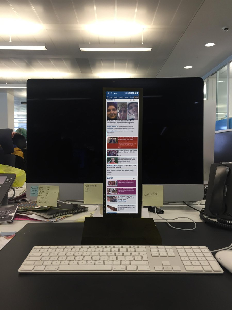 In answer to the @nytimes's mobile experiment http://t.co/HVOAkJwB6z, meet our new mobile-optimised monitors. http://t.co/hd3cQT4Lnx