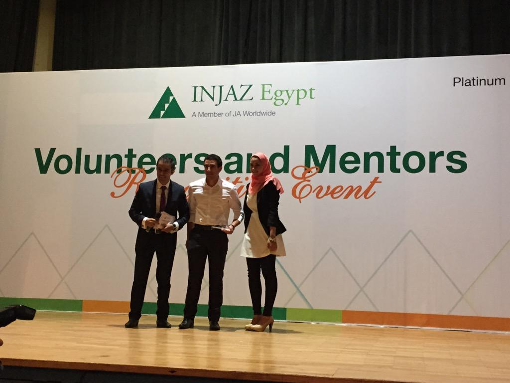 1st time award, the Most Committed Student Organization was awarded to @MECAEgypt ! #VolunteersMentorsEvent http://t.co/pl2rkViACe