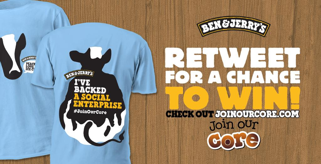 To support our #JoinOurCore social entrepreneurs, we have 100 T-shirts to give away! Be ready to RT us @ 11am! http://t.co/186ePa040T