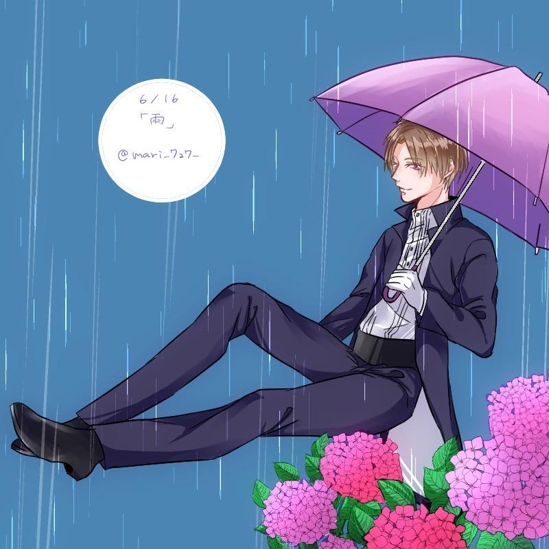 梅雨ですね〜 #へし切長谷部版深夜の真剣お絵描き60分一本勝負 http://t.co/fxQSEL9coB