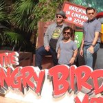 #TheAngryBirdsMovie stars @joshgad Peter Dinklage & Jason Sudeikis at @SummerofSony photocall in Cancun