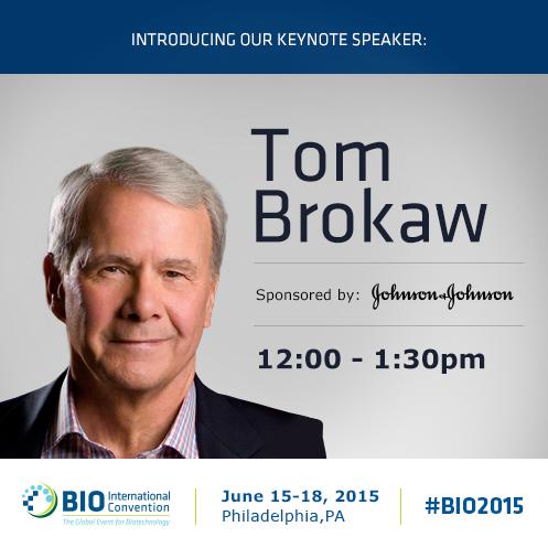 Our #Janssen company is proud to sponsor today's #BIO2015 Keynote featuring @TomBrokaw - http://t.co/SARCeDM12Y http://t.co/jkUFrwFJ5t