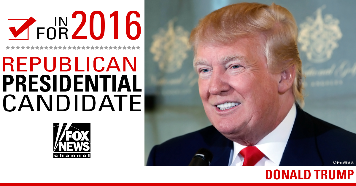 Breaking News Donald Trump announces he is running for president of the United States in 2016