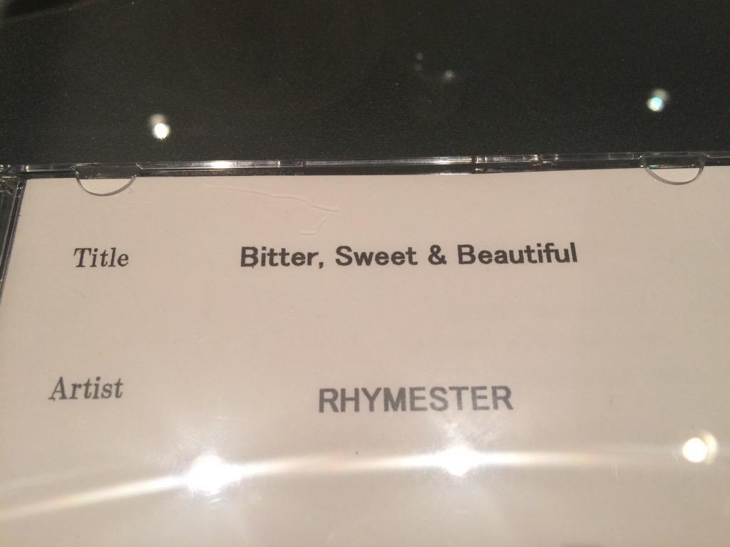 できました。ライムスターのニューアルバム「Bitter, Sweet & Beautiful」。マスタリング終わって音源完パケ。7月29日リリース。関係みなさんのお力添えで堂々たる作品になりました。ありがとうございますー! http://t.co/qYqykbfLfy