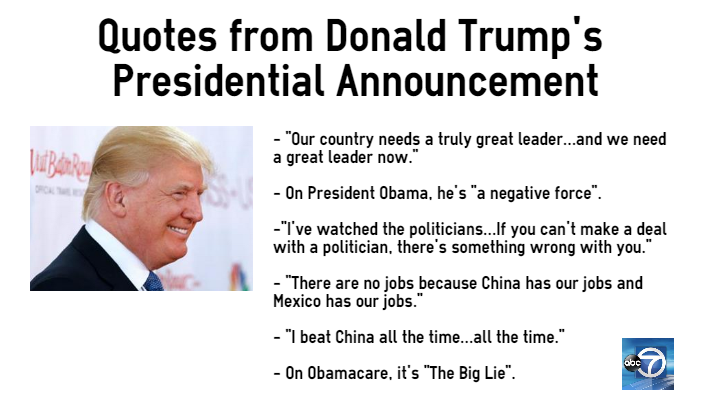 Icymi: here are quotes from donald trump's presidential ...