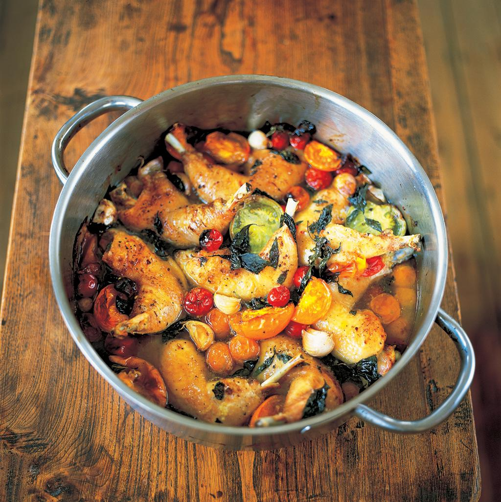 #Recipeoftheday is a delicious one-pot meal. Tender & crisp chicken legs with sweet tomatoes. http://t.co/Tl3yEehxZy http://t.co/lZaXfQSmmm