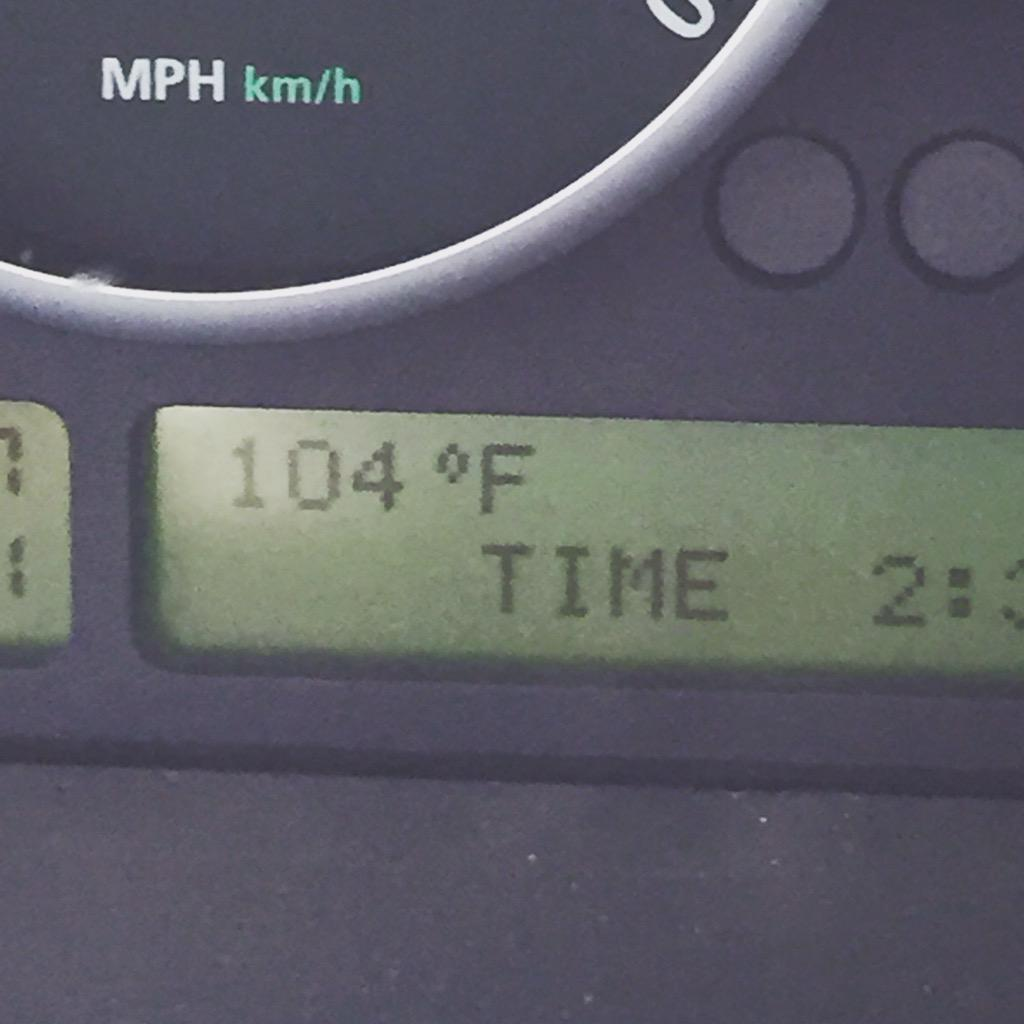 I thought I was done with triple digits when I left AZ! @PatrickRockey when will we get relief? @WTKR3 http://t.co/94ZpsUI93W