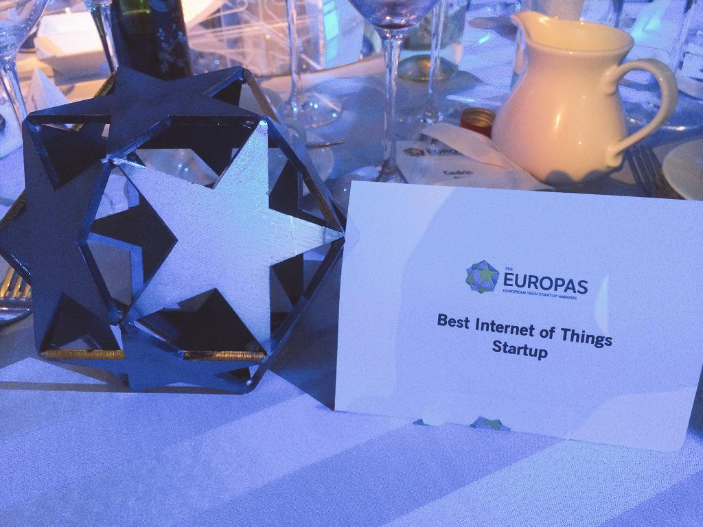 .@sigfox just won #TheEuropas Best Internet of Things Startup award! http://t.co/hURyBykjI0
