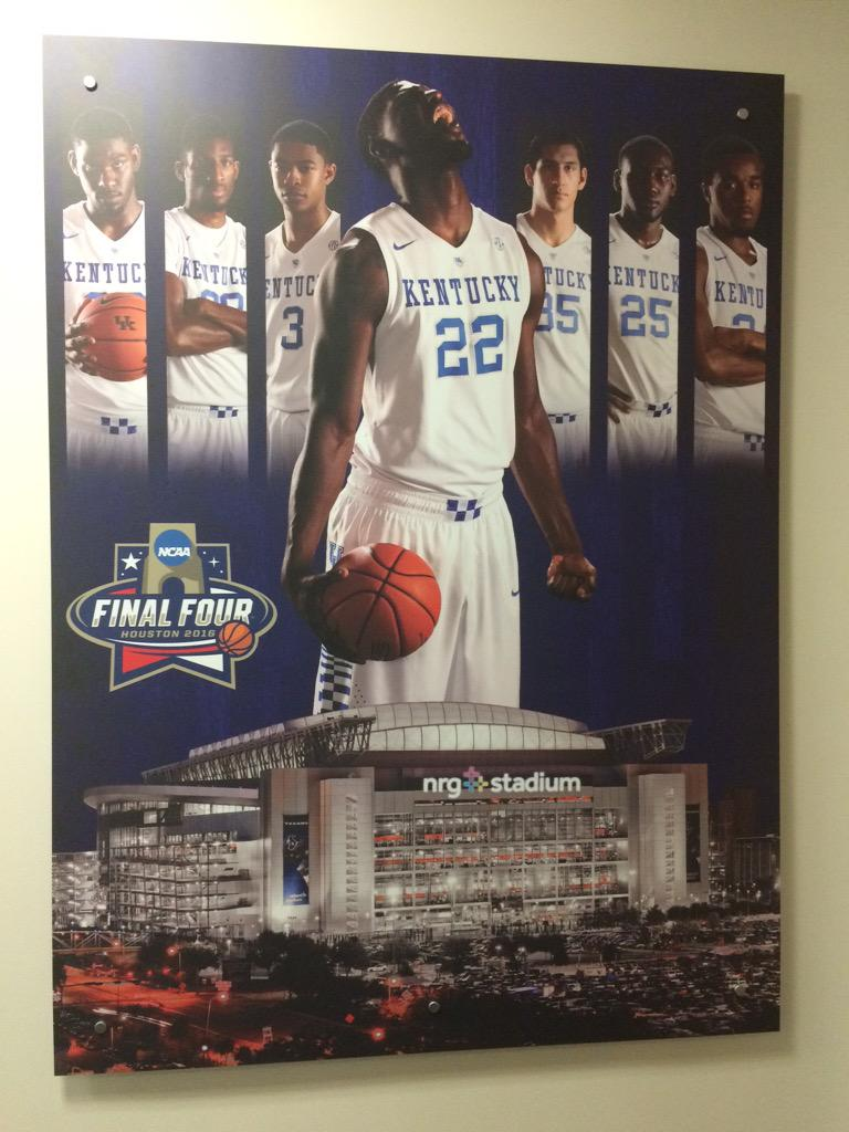 New 2016 Final Four poster in the Craft Center locker room | Kentucky Sports Radio