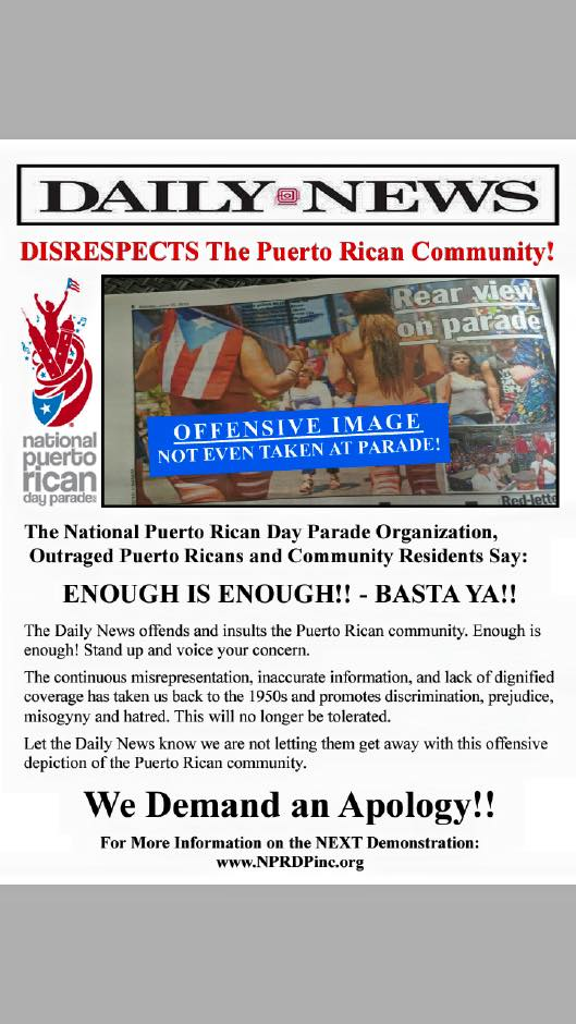 We will not stand for this... not this time, not again. Es una falta de respeto  #PRParade http://t.co/GXXpaShQRS