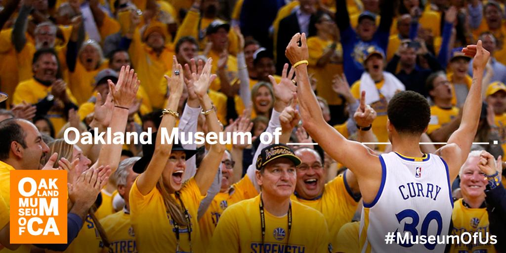 WE ARE #WARRIORS! So proud of our #hometeam! This is for Oakland! #StrengthInNumbers #MuseumWager #MuseumofUs #NBA http://t.co/nVDemStMA7
