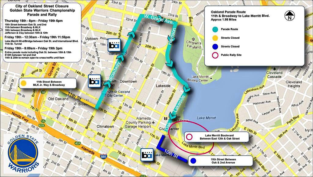 Parade is Friday at 10 AM in Oakland - Fans can begin to line up as early as 5:00 at Lakeshore- 12th Street http://t.co/tMWJWgadKC