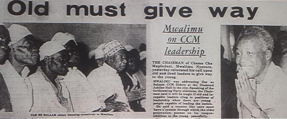 It will be tragic if old & tired leaders cling to leadership when there are young people capable of leading.- Nyerere http://t.co/ctLsiCg1Ox