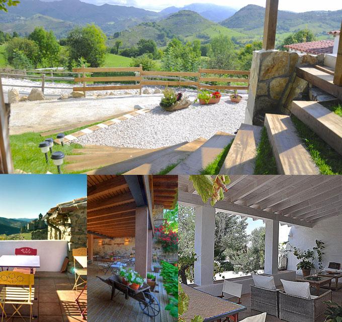 El verano no se limita a la playa top casas rurales con for Terrazas rurales