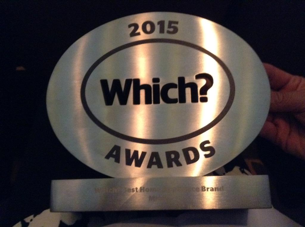 Winners of Best Home Appliance Brand 2015. Whoop whoop. Delighted #WhichAwards2015 http://t.co/4HBqof6jg0