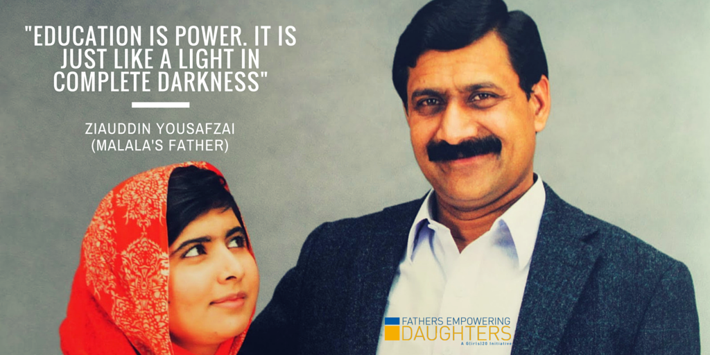 Our #WednesdayWisdom from @ZiauddinY. Watch his #FathersEmpoweringDaughters vid at http://t.co/QqCjh4xzey @MalalaFund http://t.co/gKD0TdlQTc