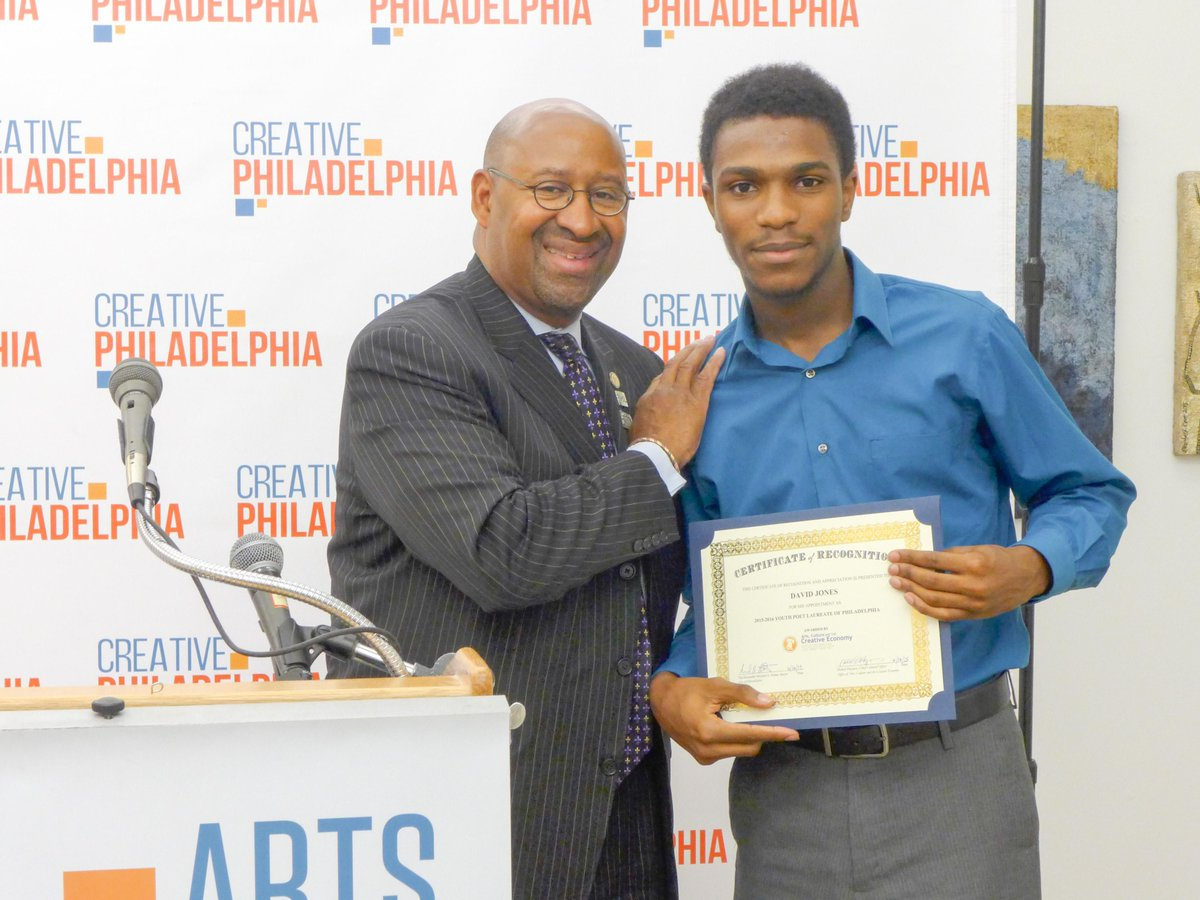 Congrats West Philly High student David Jones - Philly's new Youth Poet Laureate! http://t.co/ofBxYPitWy @PYPM215 http://t.co/3AyiBhnw4O