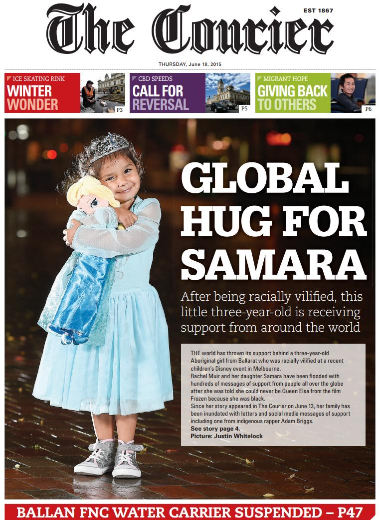 One of the happier front pages in a long time: http://t.co/PTdSxYPFaD #Ballarat @FairfaxRegional http://t.co/6ezpjoU0Ws