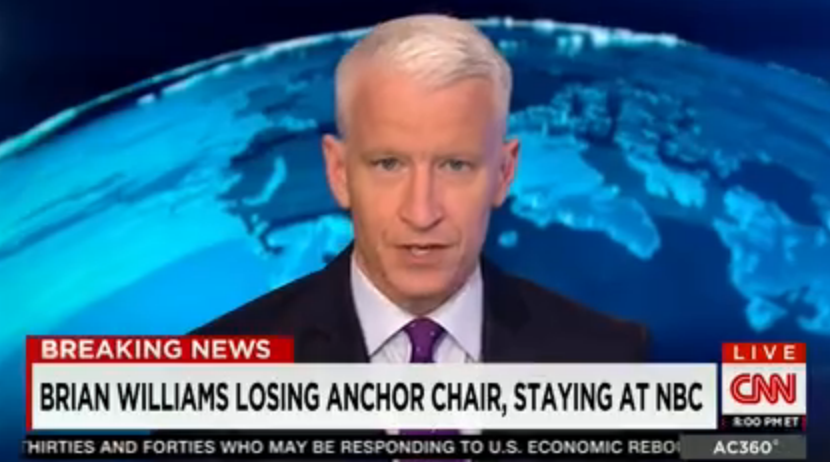 CNN: Brian Williams will lose Nightly News anchor chair, but remain at NBC. http://t.co/jCTguepcxP http://t.co/euxhh5xJDv