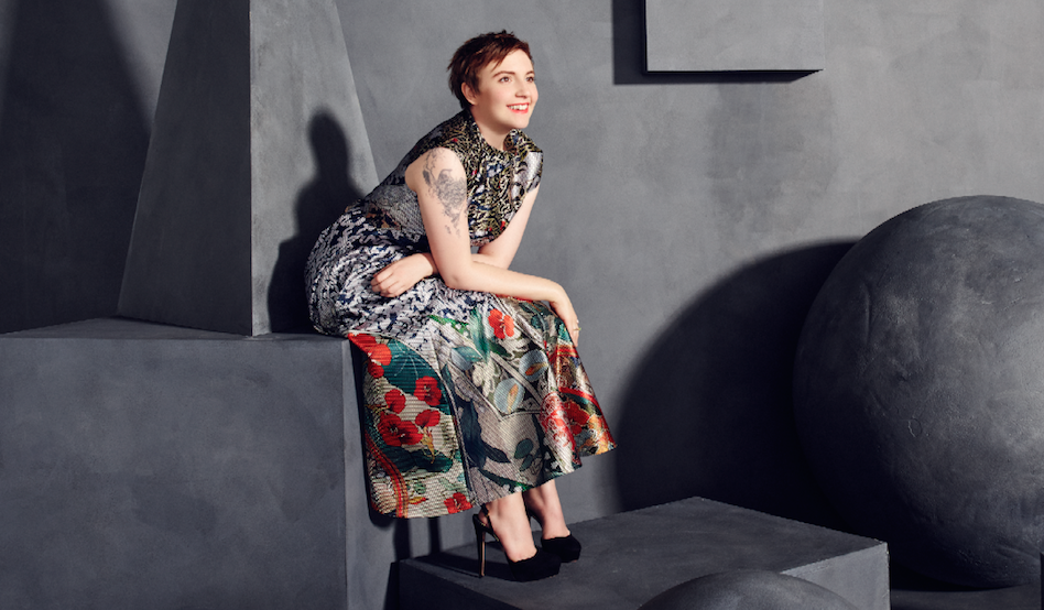 .@LenaDunham on Hilary Clinton slogans & HBO's notes on semen in Girls:
