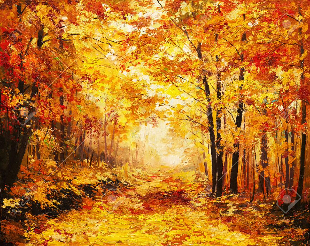 Oil painting #landscape - colorful #autumn forest | © max5799 | Stock Photo ID: 38223011 #123RF #OilPainting http://t.co/T8Jza2mZAd