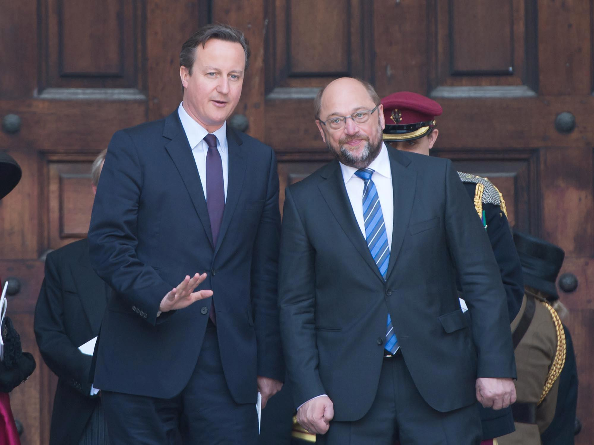 RT @StPaulsLondon: Prime Minister David Cameron and President of the European Parliament Martin Schulz at today's #Waterloo200 service. http://t.co/L81SDJscq6