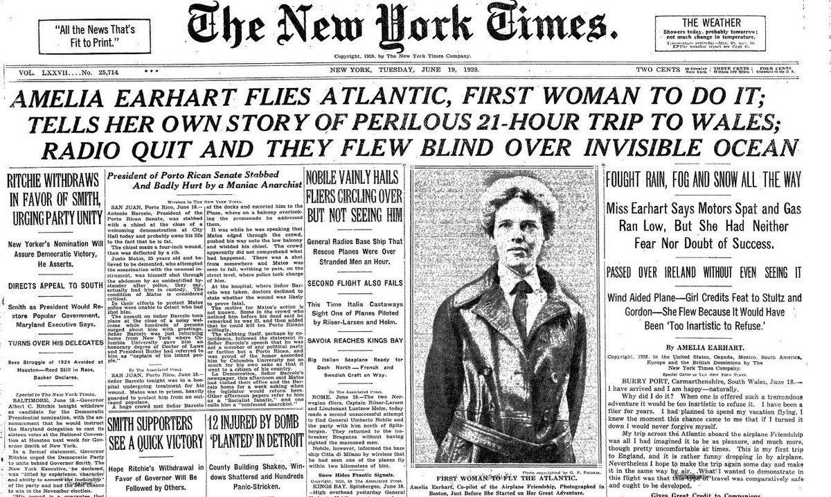 amelia earhart a woman with a Aviator amelia earhart, the first woman to fly across the atlantic and holder of the  distinguished flying cross, is born on this day in 1897 earhart took her first.