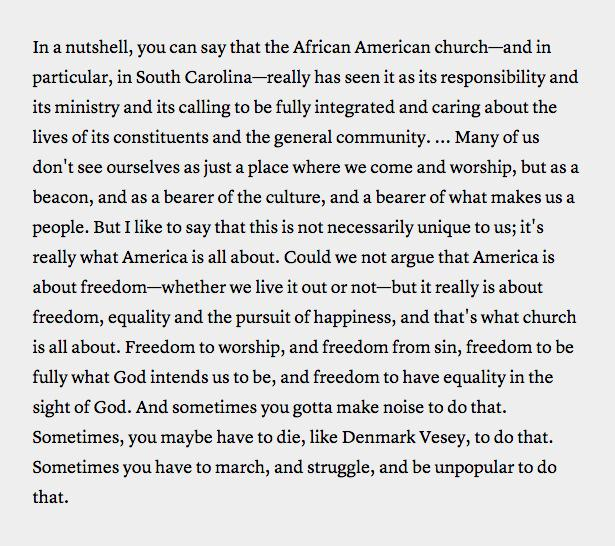 These words, from the late pastor and SC state senator Clementa Pinckney: http://t.co/pO0C7r1BDn http://t.co/iyT9MiosFy