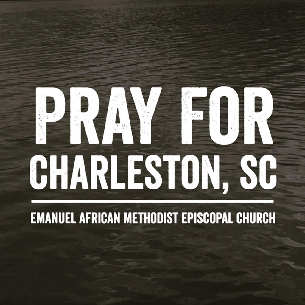 We're devastated for our family in Christ who suffer today. We grieve with you & pray for you. #PrayForCharleston http://t.co/nKl6YbeNvW