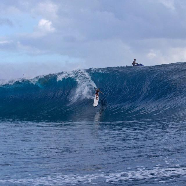 I came to Tahiti & caught the biggest wave of my life, followed by a Grade A gymnastic routine. @roxy http://t.co/yesI9KoWpO