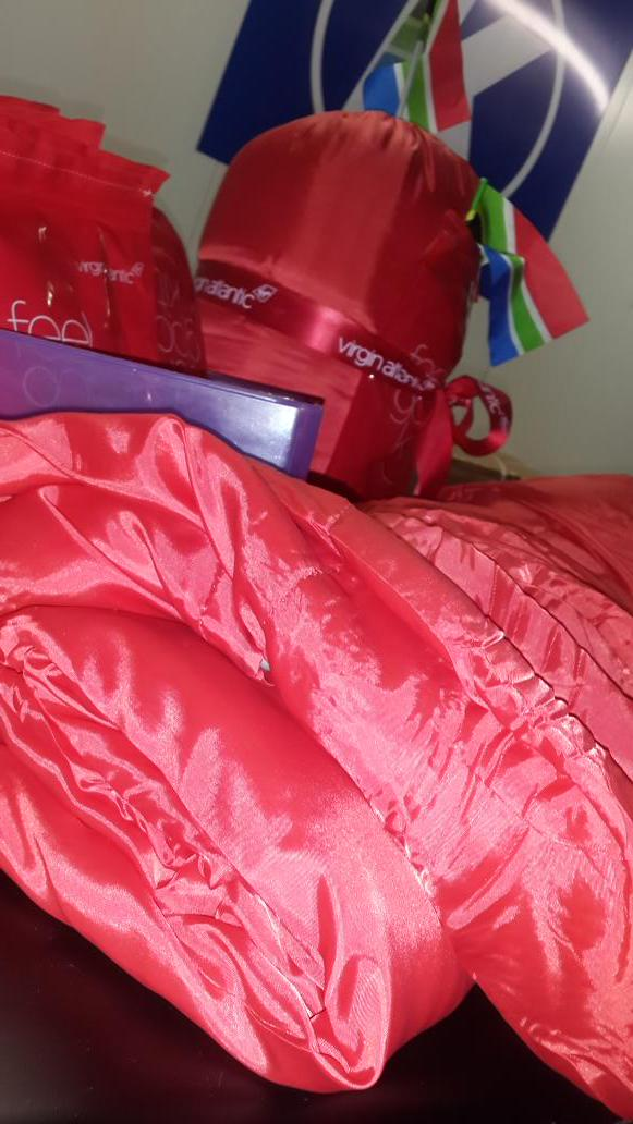 In the morning these @VirginAtlantic sponsored sleeping bags will be heading to @GirlsBoysTownSA #CEOSleepOutZA http://t.co/VG4FNgCi57