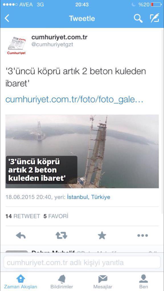 Ne kadar da mutlular.. Ülkesinin köprü, havaalanı, vb yapmasına bu kadar düşman başka bir muhalefet var mıdır acaba? http://t.co/3aqJLIH6vl