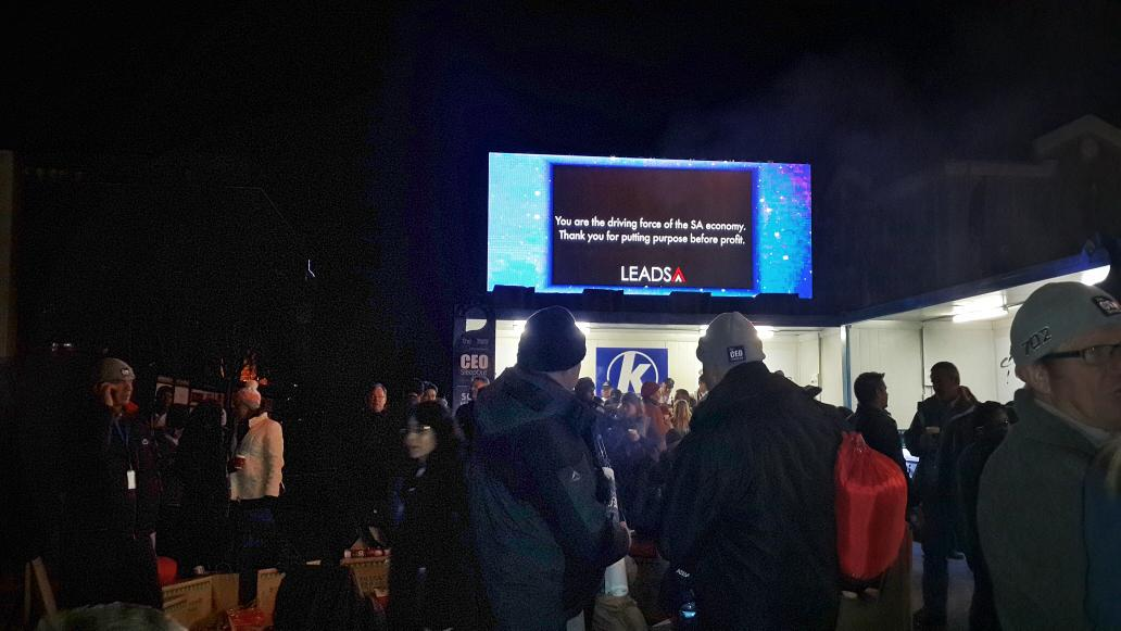 The #CEOSleepOutZA is at its core about fundraising for a worthy cause.  @SleepOutZA  Leading by example. http://t.co/h7w9u76kJy