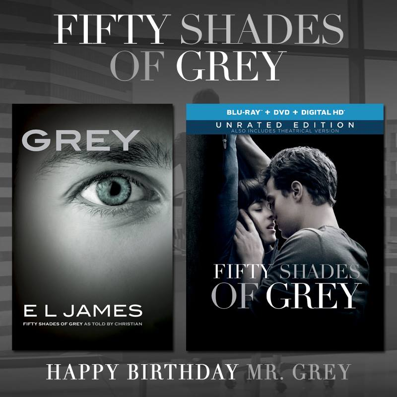 "Happy Birthday Christian Grey! Celebrate today with E L James' ""Grey,"" a fresh perspective in Christian's own words. http://t.co/TLmo60Ahn2"