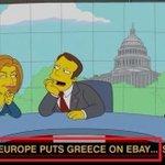 """#DieSimpsons haben schon 2012 vorausgesagt, dass Europa Griechenland """"auf eBay zum Verkauf anbietet""""! #Grexit http://t.co/N8tCtNEJvU"""