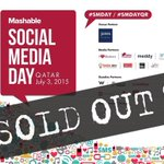 PSA for those attending #SMDayQR @jtgdoha - event has sold-out! If tickets open up, youll know soon! #Qatar http://t.co/Q7PirktAiw