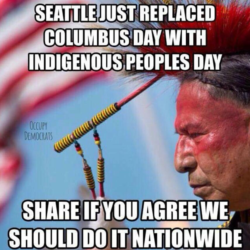 Just making sure this stays LIVE on Twitter! #Seattle #IndigenousPeoplesDay Bam! http://t.co/uvjhIkAJD0