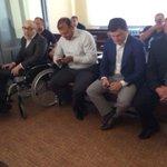 Полтава.Суд по Кернесу:На заседание явился Кернес,Добкин,Писаренко и двое обвиняемых охранников Кернеса. (Фото-Х1) http://t.co/tW7O6cmRuu