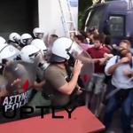 Griechenland: Zusammenstöße mit der Polizei vor EU-Büros http://t.co/dA7FFV5Q2R http://t.co/rmUgjrXXSW