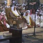 أمير البلاد وولي العهد يتقدمان المصلين في الصلاة الموحدة التي جمعت السنة والشيعة في مسجد الدولة الكبير http://t.co/w4NhkP3BjY