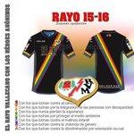 """http://t.co/kutY3uVvR0 Bandera arcoíris en la segunda equipación del Rayo como homenaje a los """"héroes anónimos"""" http://t.co/PbYf9T2dxk"""
