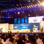 Honble PM Shri. Narendra Modi on stage to speak at the grand event of #DigitalIndiaWeek #DigitalIndia http://t.co/K7fwgV9627