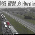 Hardin County drivers heading south stalled near Sonora after overturned semi. I-65 S shut down for 4-5 hours @whas11 http://t.co/EuK3weymKn