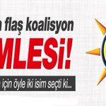 AKP'den koalisyon için dev hamle! http://t.co/ECj6WkpIT4 http://t.co/NSA1sa81C9