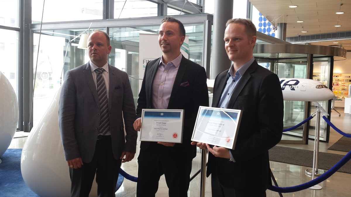 Finnair is the 1st airline in the world to receive IATA's PHARMA certificate  @finnaircargo