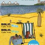 Biblio.plage au Lac et Biblio.sport @QuaiDesSports, 2 bibliothèque éphémères pour lété http://t.co/ZImcBVaAvl http://t.co/t6d23mf958