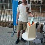 Vår 4.kandidat Benjamin A. Notkevich var den aller, aller første som forhåndsstemte i #Tromsø i 2015! #JaTilNordNorge http://t.co/SJqyUp1c6Q